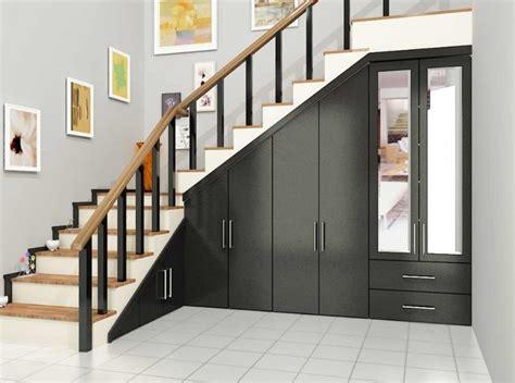 desain tangga  rumah minimalis  gaya modern