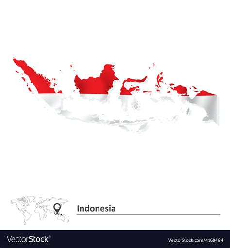 map  indonesia  flag royalty  vector image