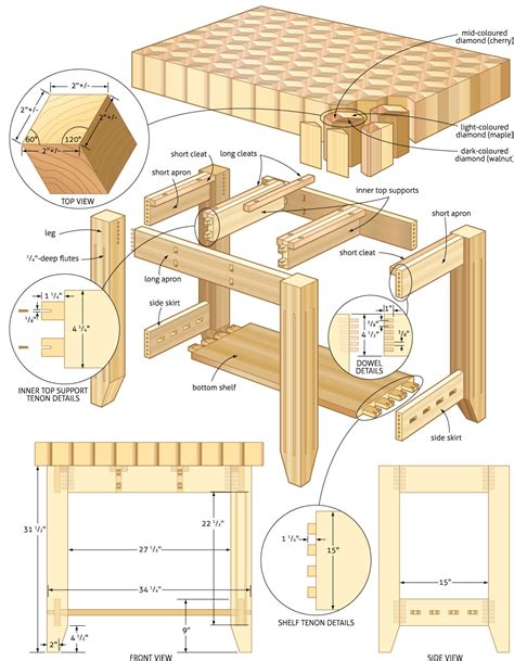 build diy woodworking plans  kitchen island  plans