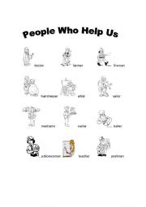 english worksheets people