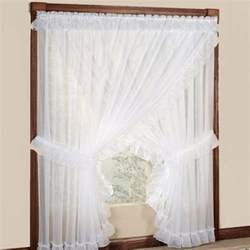 White Priscilla Curtains With Attached Valance by Blend Your House Modern Look With Traditional Priscilla