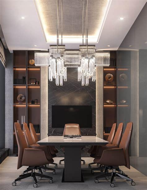 unique table modern luxury ceo office interior design jeddah saudi