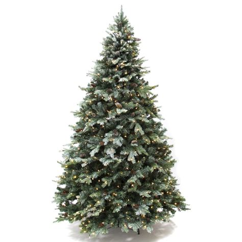 best choice products 7 5 ft prelit premium frosted spruce