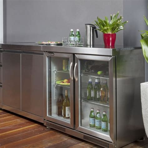 2 door bar fridge gmf228 outdoor kitchens heatworks