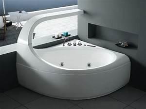 Baignoire D Angle 130x130 : combien co te une baignoire d angle piscines et jacuzzi ~ Edinachiropracticcenter.com Idées de Décoration