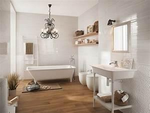 carrelage de salle de bains original 90 photos inspirantes With salle de bain bois et blanc