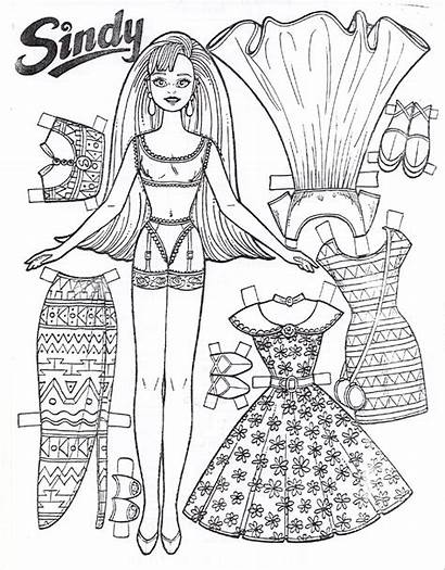 Paper Doll Coloring Pages Printable Dolls Cut