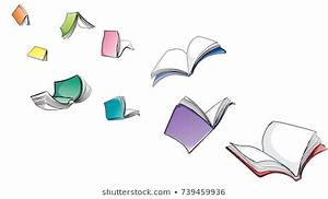 Open Book with Blue Cover on a White Background ...