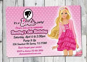 Barbie Birthday Invitation: Printable Doll by partyprintouts