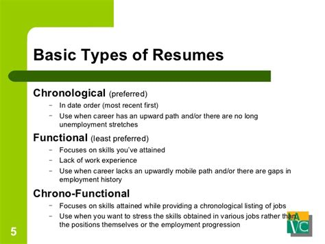 Two Basic Types Of Resumes by Resume And Cover Letters