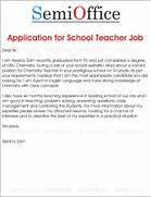 Application For School Teacher Job Free Samples SemiOffice Com Sample Job Application Letter For Teaching Cover Letter Templates Example Job Application Letter New Calendar Template Site Application Letter For Bank