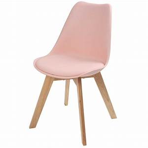 chaise scandinave rose pastel ice maisons du monde With chaises fauteuil scandinaves