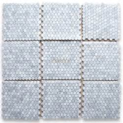 Carrera Marble Hex Floor Tile by Carrara Marble Tile Italian White Carrera 1 Inch Hexagon
