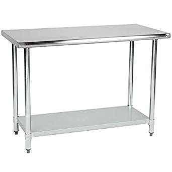 amazoncom stainless steel kitchen food prep work table