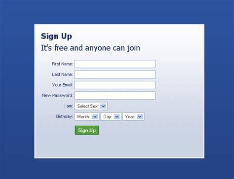 facebook registration form xhtml registro al estilo facebook