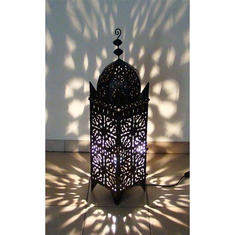 le photophore marocain 233 lectrifi 233 95cm en fer forg 233 lanterne orientale 100 fait achat