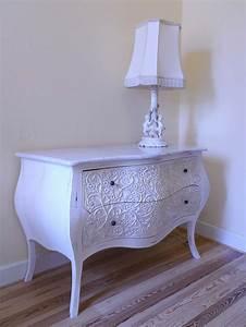 Schreibtisch Shabby Chic Look : kommode anrichte sideboard im barock stil massivholz white ~ Lizthompson.info Haus und Dekorationen
