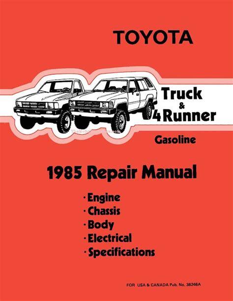 old cars and repair manuals free 1985 toyota mr2 electronic valve timing 1985 toyota truck 4runner oem repair manual 36246a