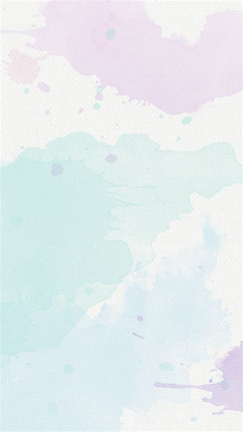 Simple Lock Screen Wallpaper by Lavender Mint Pastel Watercolour Texture Phone Background