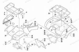 Arctic Cat Atv 2003 Oem Parts Diagram For Body Panel