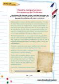 year  reading comprehension worksheets theschoolrun