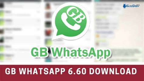 gbwhatsapp 6 60 mod apk for android with new features