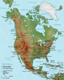 North America Mountain Ranges Map