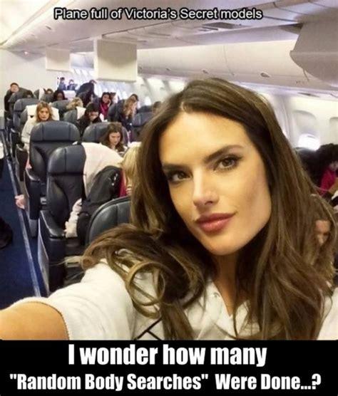 Meme Model - plane full of victorias secret models