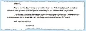 afub modele de lettre banques alerte sur les frais de tenue de compte mod 232 le