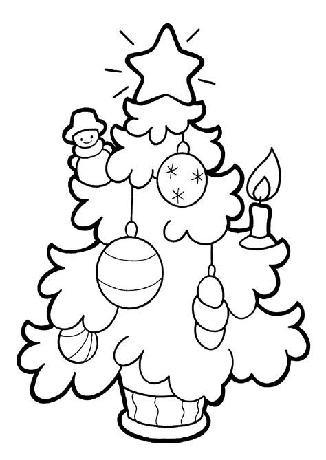 christmas tree coloring pages  childrens printable