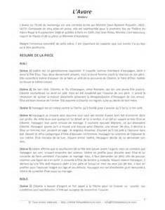 lavare resume acte 3 r 233 sum 233 et 233 tude de l acte 1 des fourberies de scapin david dumoulin fiches de lecture