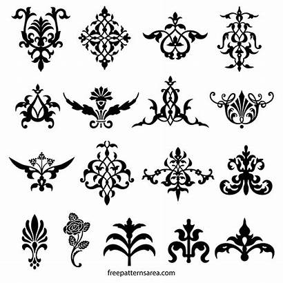 Decorative Vector Floral Ornament Elements Designs Flourish