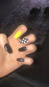 checker nailart nails acrylic checkered nails