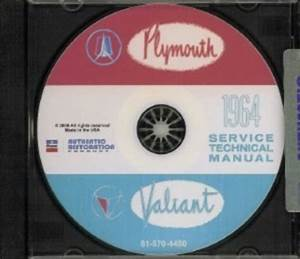 Plymouth 1964 Fury  Valiant  Belvedere Shop Manual Cd 64