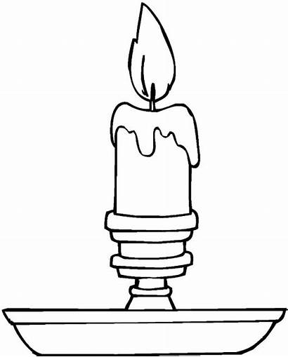 Candle Coloring Christmas Pages Simple Drawing Candles
