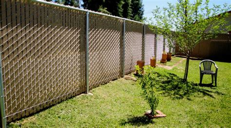 high desert privacy chain link fence  american fence