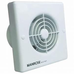 Manrose Qf100t Quiet Timer Extractor Fan For Bathrooms And Toilets