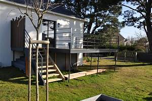 terrasse sur pilotis nantes nos conseils terrasse beton With terrasse beton sur pilotis