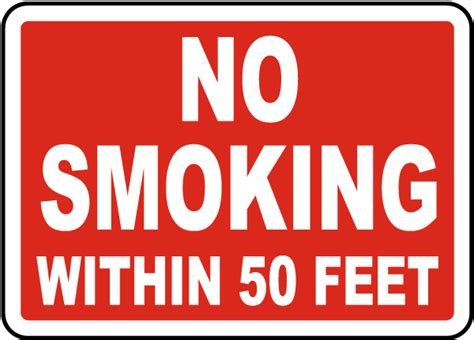 Printable Bathroom Etiquette Signs by No Smoking Within 50 Feet Sign By Safetysign Com J2540