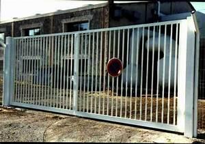 Portail 4 Metres 2 Vantaux : portail pivotant industriel grillages vermigli ~ Edinachiropracticcenter.com Idées de Décoration