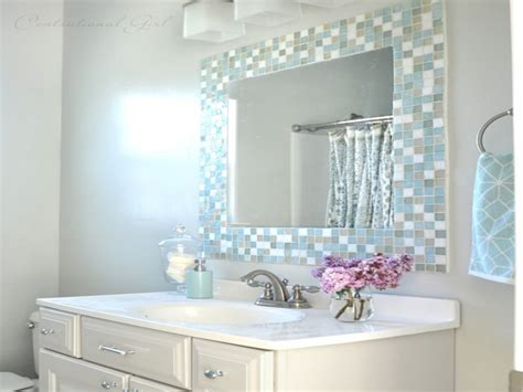 diy bathroom mirror ideas diy bathroom mirror tile mosaic ideas