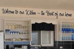 welcome to our kitchen the heart of our home english With kitchen cabinets lowes with word stickers for walls