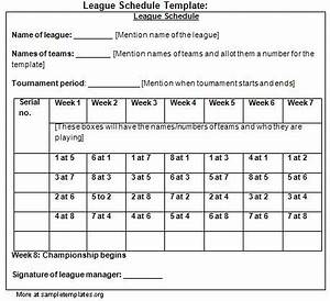 league schedule template pokemon go search for tips With 7 team schedule template