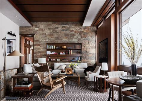 rustic living room by studio sofield by architectural digest ad designfile home decorating
