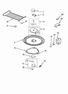 Magnetron And Turntable Parts Diagram  U0026 Parts List For