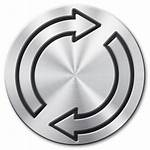 Reload Icon Icons Metal Brushed