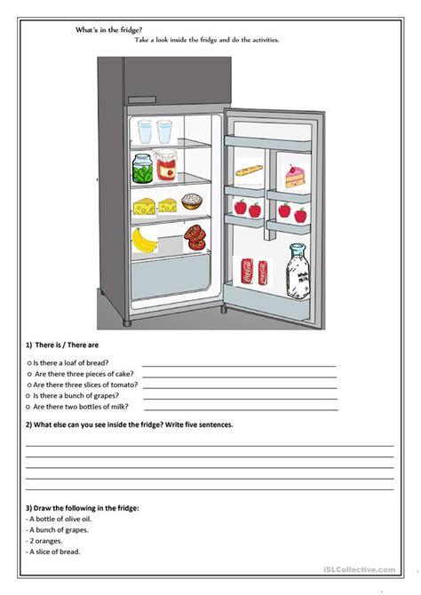 whats   fridge worksheet  esl printable