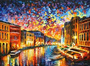 Venice Grand Canal Painting by Leonid Afremov