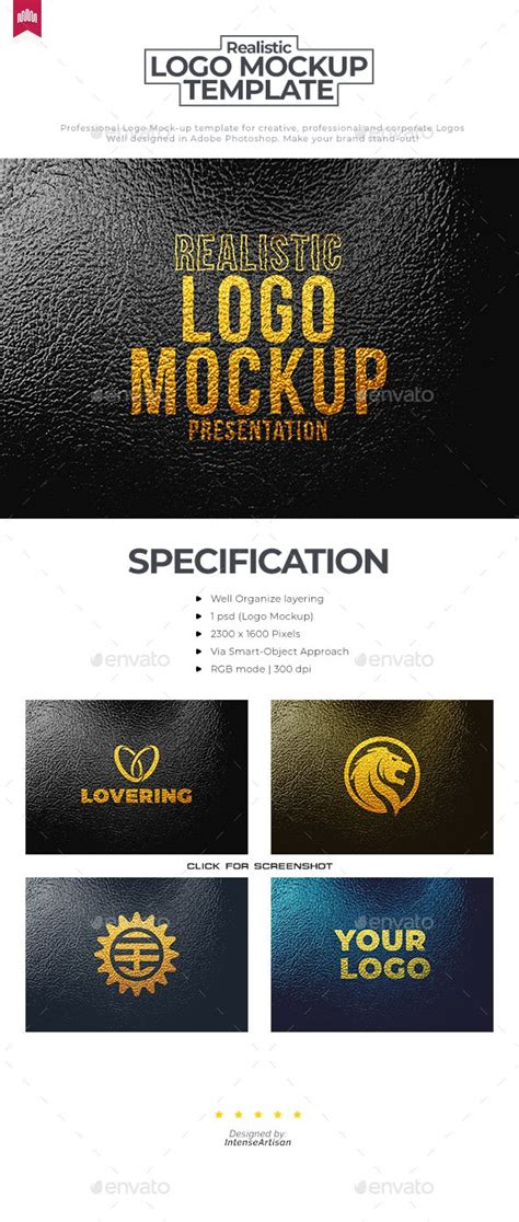 Psd file consists of smart dwonload this free storefront logo mockup. Leather Gold Printed Logo Mockup | Logo mockup, Print logo ...