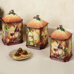 Canisters Kitchen Decor Wine Themed Kitchen Accessories Search Wine Theme Warm Curtains For